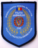 5.520 ROMANIA ECUSON IGP CSC PROTECTIA POLITIA ANIMALELOR 95/73mm