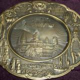 Angkor Wat - Templul hindus, gravura metalica ornamentala, suvenir din Cambodgia - Metal/Fonta, Ornamentale