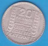 (7) MONEDA DIN ARGINT FRANTA - 20 FRANCS 1933, 20 GRAME, Europa