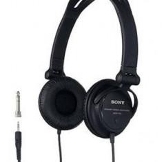 Casti Sony MDR-V150 tip DJ, negre, Casti Over Ear, Cu fir, Mufa 3, 5mm