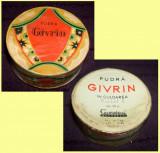 Cutie cu pudra GIVRIN din 1959, Cosmetica Bucuresti perioada comunista