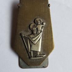 Veche Clema Bancnote cu Sfantul Cristofer Protectorul Calatoriilor RARA
