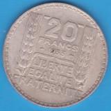 (3) MONEDA DIN ARGINT FRANTA - 20 FRANCS 1933, 20 GRAME, Europa