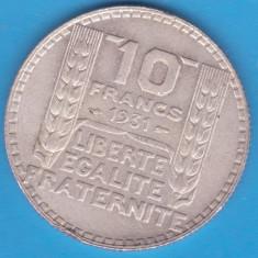 (2) MONEDA DIN ARGINT FRANTA - 10 FRANCS 1931, 10 GRAME, Europa