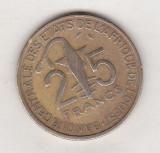 Bnk mnd Africa de Vest 25 franci 1971