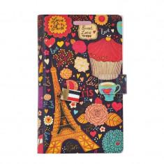 Husa Book LG Optimus L5 Lemontti Happy Life Paris Journal