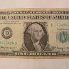CY - Dollar dolar 1963 USA SUA - bancnota america
