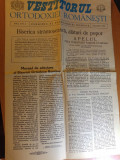 ziarul vestitorul ortodoxiei romanesti anul 1,nr. 1 decembrie 1989 ( revolutia )