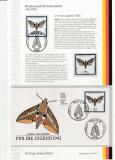 Cumpara ieftin Germania, imprimat aniversar cu plic, timbre - fluturi - rar si special