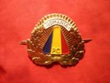 Insigna Sapca Politia Comunitara  , metal si email , dim.=4,8x4,2 cm