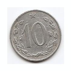 Cehoslovacia 10 Haleru 1962 Aluminiu, 22 mm, KM-49, Europa