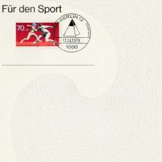 Germania - imprimat cu timbre - aniversar sport