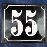 Numar vechi de casa emailat - Metal/Fonta
