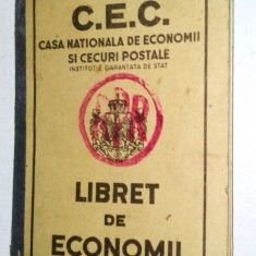 Carnet de C.E.C. regalist - supratipar R.P.R. - Pasaport/Document, Romania 1900 - 1950