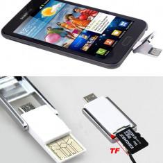 Breloc Cititor  carduri MicroSD 2 in 1conectivitate micro USB si USB -COD 2041 -