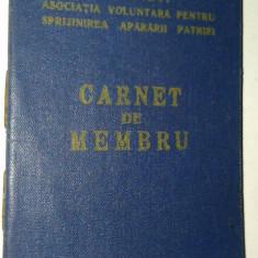 Carnet de membru - A. V. S.A. P. - Diploma/Certificat