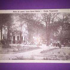 Lacu Sarat - Statia Tramvaielor - Carte Postala Muntenia 1904-1918, Circulata, Fotografie
