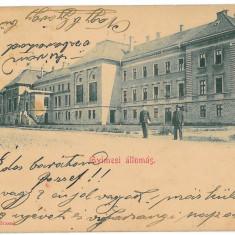 2555 - Litho, Bacau, GHIMES, Railway Station - old postcard - used - 1904 - Carte Postala Moldova pana la 1904, Circulata, Printata