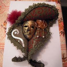 Masca VENETIANA decorativa executata manual, 23x18 cm - Livrare Posta Romana