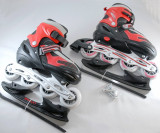 Role vara/patine iarna - reglabile  34 - 37 - montura rolelor este metalica, Unisex, WORKER