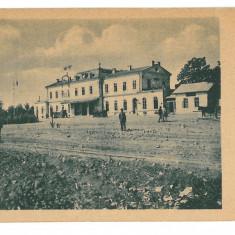2166 - Vrancea, FOCSANI, Railway Station - old postcard - used - 1917 - Carte Postala Moldova 1904-1918, Circulata, Printata