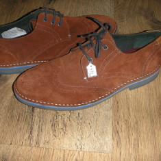 Superbi pantofi oxford barbat TEDBAKER originali noi piele intoarsa caramiziu 41 - Pantofi barbat Ted Baker, Culoare: Teracota