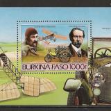 Burkina Faso.1985 Masini si avioane-Bl. SB.619 - Timbre straine, Nestampilat