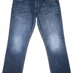 (BATAL) Blugi S. OLIVER - (MARIME: 38 x 32) - Talie = 106 CM, Lungime = 111 CM - Blugi barbati, Culoare: Albastru, Prespalat, Drepti, Normal