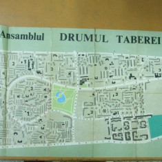 Bucuresti Ansamblul  Drumul Taberei  1980 harta
