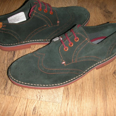 Superbi pantofi oxford barbat TED BAKER originali noi piele intoarsa verde 41 - Pantofi barbat