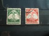 GERMANIA NAZISTA 1935 / VULTURI  CU ZVASTICA / 2 VAL STAMPILATE, Stampilat