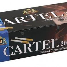 TUBURI CARTEL 200 tuburi, filtre tigari / cutie, pentru injectat tutun, tigari - Foite tigari
