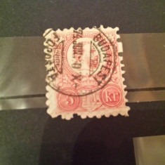 Ungaria 1871 Regele Franz Josef 5 kr., Stampilat