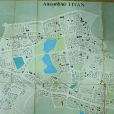 Bucuresti Ansamblul Titan 1980 harta