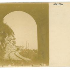 2388 - Caras-Severin, ANINA, Railway tunnel - old postcard, real PHOTO - unused - Carte Postala Banat 1904-1918, Necirculata, Fotografie