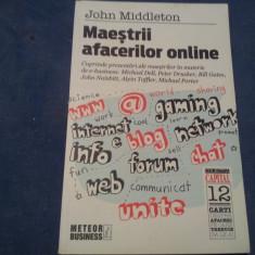 MAESTRII AFACERILOR ONLINE-JOHN MIDDLETON 2012 - Carte de vanzari