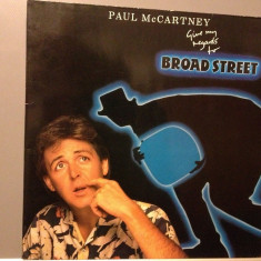 PAUL McCARTNEY - GIVE MY REGARDS TO BROAD STREET (1984/ EMI / HOLLAND ) - Vinil - Muzica Rock emi records