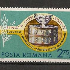 Romania.1972 Finala Cupei Davis HR.184 - Timbre Romania, Nestampilat