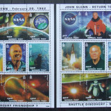 MONGOLIA 1998 - JOHN GLENN, SPATIU, 2 M/SH NEOBLIT, 2913-2930, 18 E - MG 315