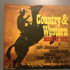 COUNTRY & WESTERN - GREATEST HITS (1984 /ELECTRECORD ) - VINIL/VINYL/IMPECABIL - Muzica Country