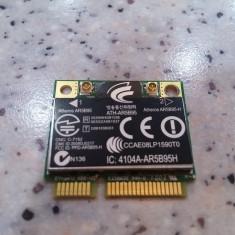 Placa de retea wireless laptop Hp CQ61, AR5B95H 802.11B/G/N Half Mini