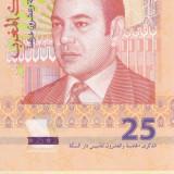 Bancnota Maroc 25 Dirhams 2012 - P73 UNC ( comemorativa - hibrid ) - bancnota africa