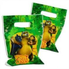 Set 6 pungi de cadou cu personaje Cartea junglei 16x23 cm