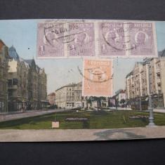 Timisoara - Cetate - Sirul Lloydului cu teatrul 1925 - Carte Postala Banat 1904-1918, Circulata, Fotografie