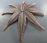 Pandantiv frunza mare cupru