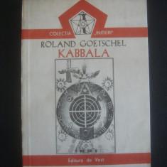 ROLAND GOETSCHEL - KABBALA - Carte paranormal