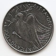 Vatican 100 Lire 1971 - Paulus VI, 27.75 mm, KM-122, Europa