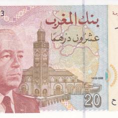 Bancnota Maroc 20 Dirhams 1996 - P67 UNC - bancnota africa