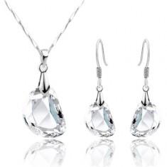 Set Cristal - Maro - Cercei/Medalionristal - Cristal - Cristale/Femei/Elegant - Set bijuterii placate cu aur