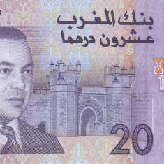 Bancnota Maroc 20 Dirhams 2005 - P68 UNC - bancnota africa